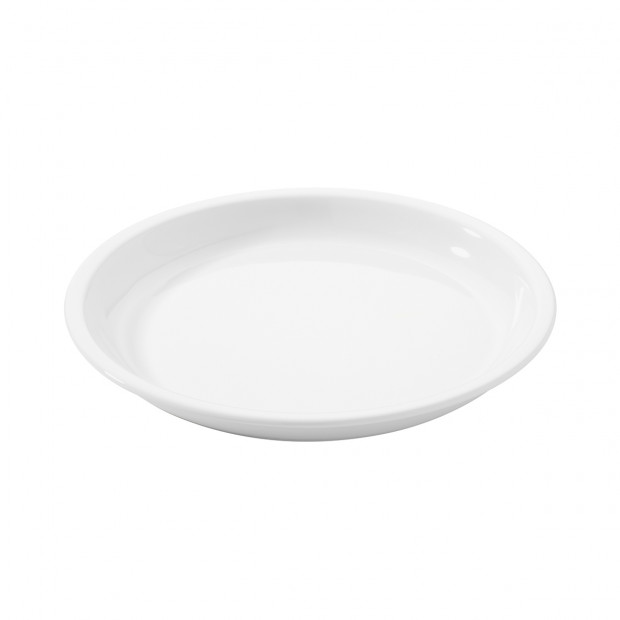 assiette ronde en porcelaine blanche - les essentiels