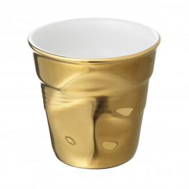 tasse espresso froissée en or - les froissés