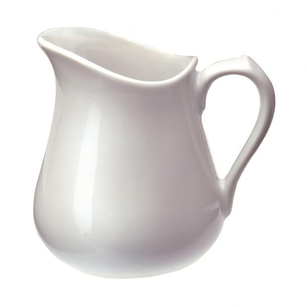 pot à lait en porcelaine blanche - les essentiels