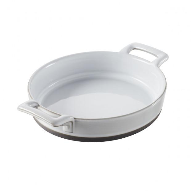 cassolette ovale pour crème brulée en porcelaine blanche - belle cuisine eclipse