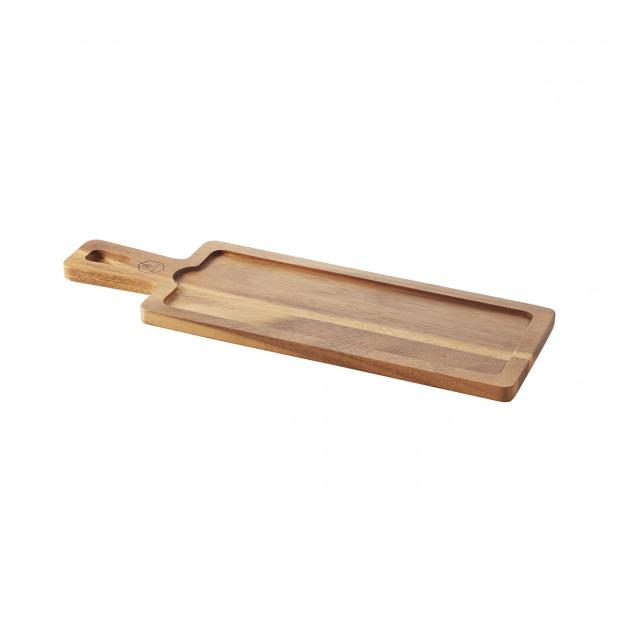 planche acacia pour assiette - basalt
