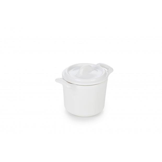 faitout avec couvercle en porcelaine blanche - belle cuisine