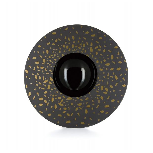 assiette sphère éclats d'or - solid