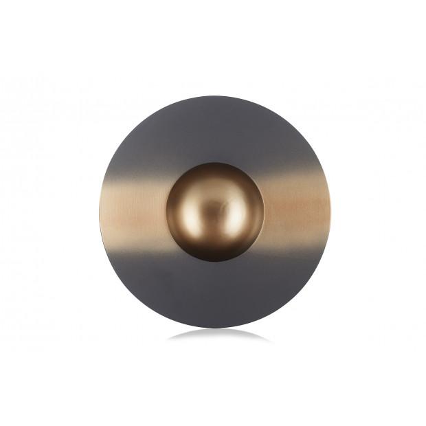 assiette sphère vibrato doré 1 - solid