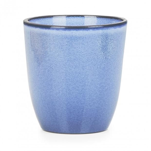 Gobelet 15 cl en porcelaine - Bleu Cirrus