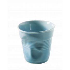 Froissé espresso uni Bleu Caraibes