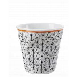 Froissé espresso décoré Fleur