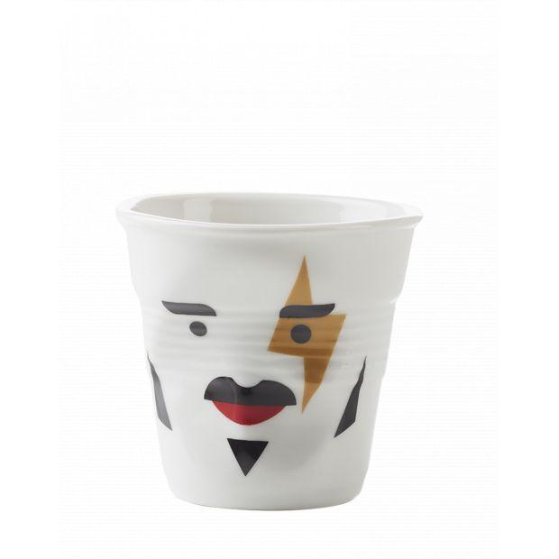 Froissé espresso décoré Mr rock star