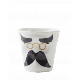 Froissé espresso décoré Mr binocle