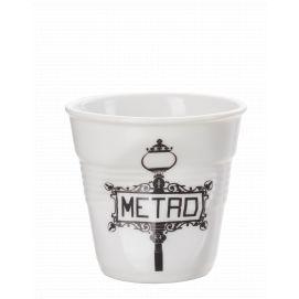 Froissé espresso décoré Metro