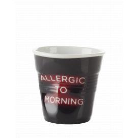 Froissé espresso décoré Néon Allergic to morning