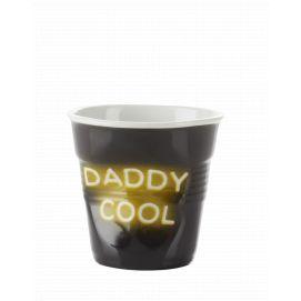 Froissé espresso décoré Néon Daddy Cool