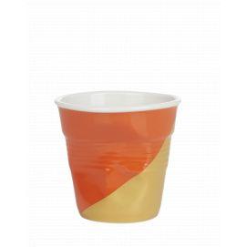 Froissé espresso décoré Twist Orange up