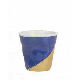 Froissé espresso décoré Twist blue up