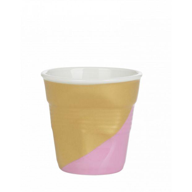 Froissé espresso décoré Twist pink down