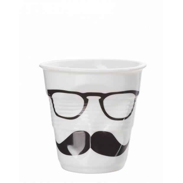 Froissé cappuccino décoré Monsieur