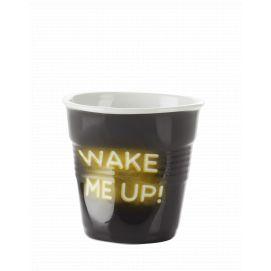 Froissé cappuccino décoré Néon Wake me up