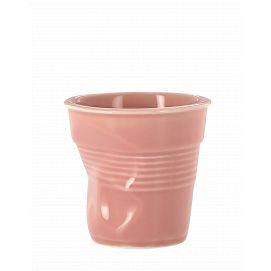 Froissé cappuccino uni Fleur de cerisier