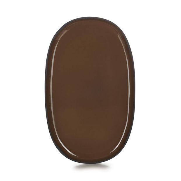 Assiette ovale Caractère 35 cm Tonka