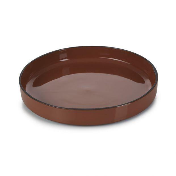 Assiette gourmande Caractère 23 cm Cannelle