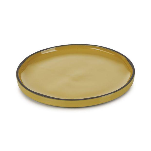 Assiette Caractère Curcuma