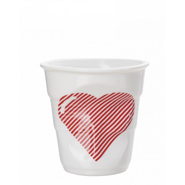 Froissé espresso décoré Coeur