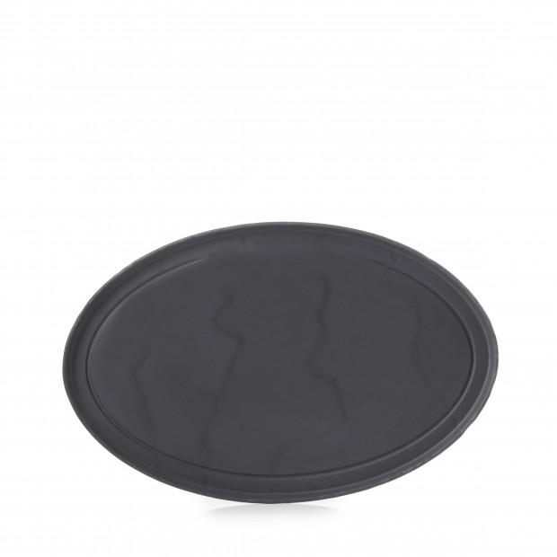 Assiette Ovale Basalt 35cm