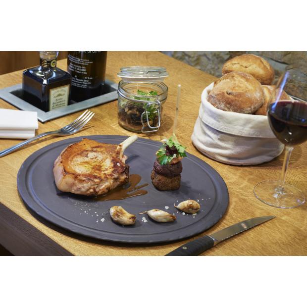 Pack de 4 assiettes Caractère 26 cm - Menthe