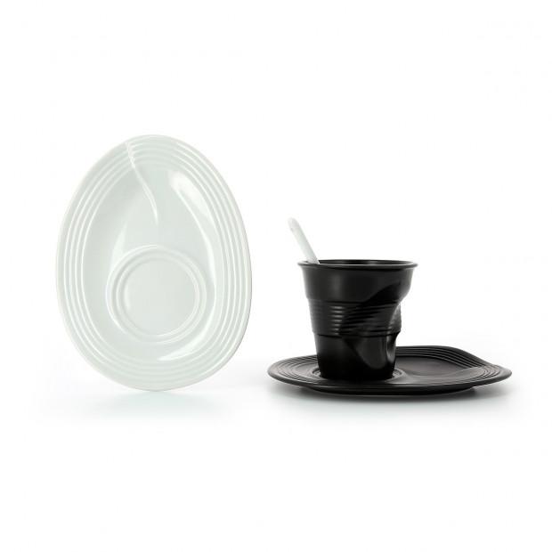Sous-tasse Froissé en porcelaine