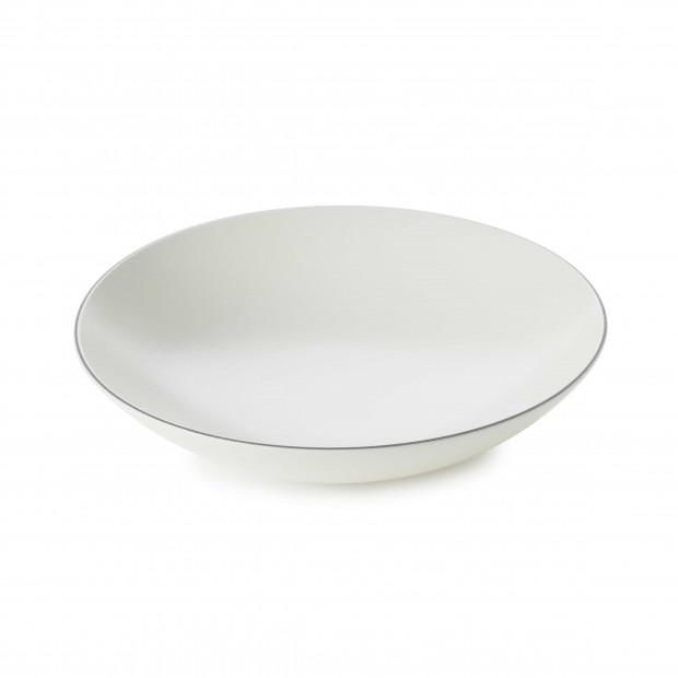 Assiette Coupe en Porcelaine Fond Plat Equinoxe Edition Collector - Blanc coton