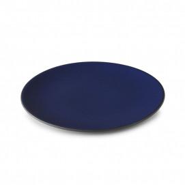 Assiette Plate en Porcelaine Equinoxe Edition Collector - Bleu Nuit - 16 cm & 31 cm