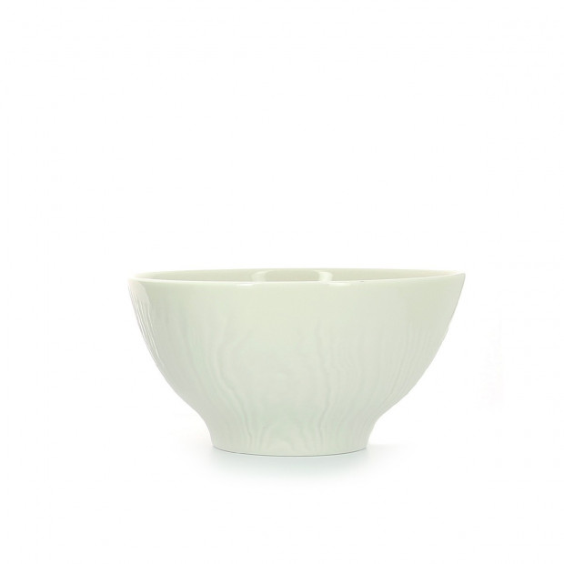 Wood-effect porcelain breakfast bowl
