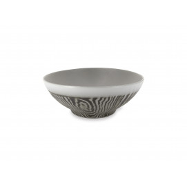 Wood-effect porcelain salad bowl