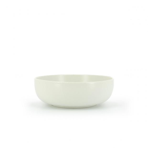 Individual slate-effect ceramic salad bowl