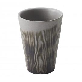 Wood-effect porcelain cup - Pepper