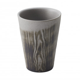 Wood-effect porcelain cup - Pepper