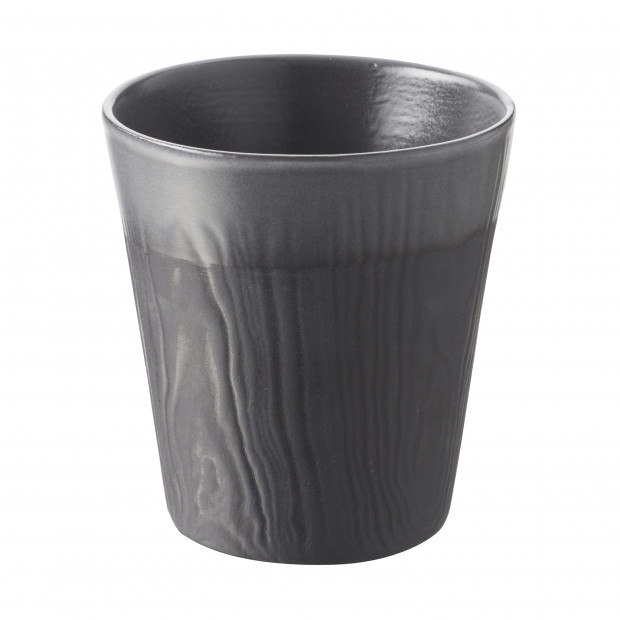 Wood-effect porcelain cup - Liquorice
