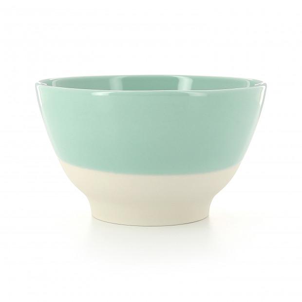Coloured porcelain bowl - Celadon Green