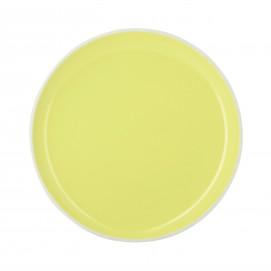 Coloured porcelain flat plate - Citrus Yellow