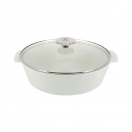 Oval casserole dish in ceramics, non-induction - Glass