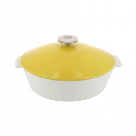 Oval casserole dish in ceramics, non-induction - Seychelles Yellow