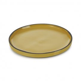 contour dinner plate Tumeric