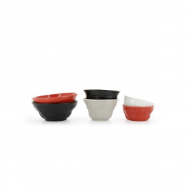 Crumpled porcelain bowl