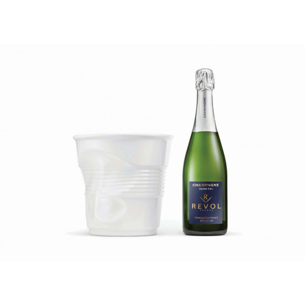 Crumpled porcelain Champagne bucket