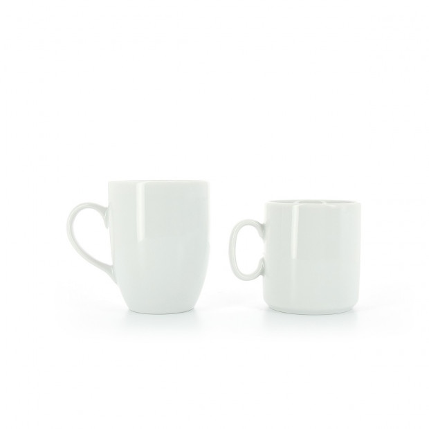White porcelain mug