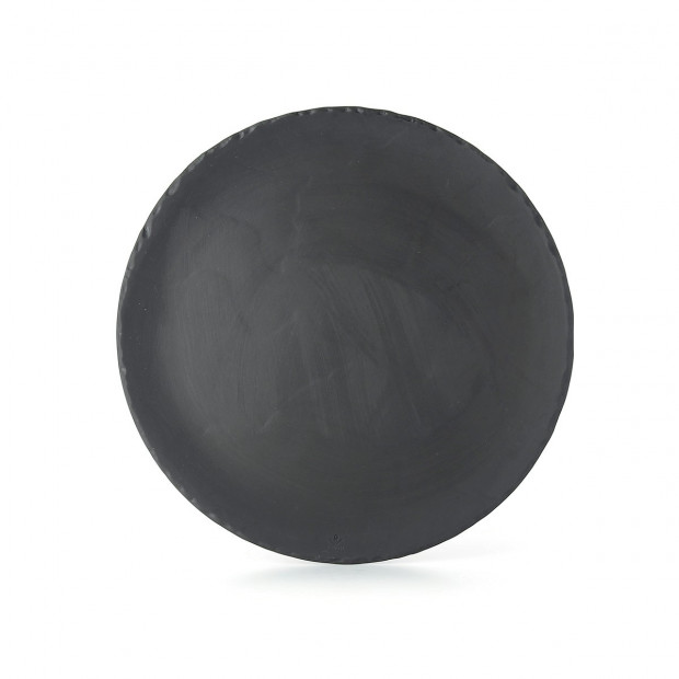 Ceramic pizza plate with slate effect