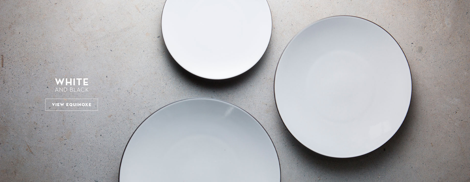 white equinoxe plates for dining in family