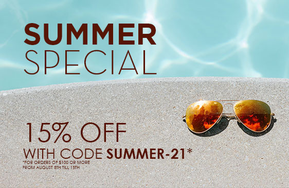 Summer Special! 15% OFF on the Entire Website!