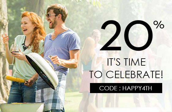 It's Time to Celebrate! 20% OFF until 5th JULY!