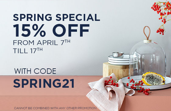 Spring Special: 15% OFF on the Entire Website